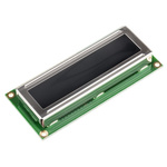 Displaytech 162D-CC-BC-3LP Alphanumeric LCD Display, White on Black, 2 Rows by 16 Characters, Transflective