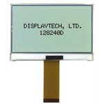 Displaytech 128240D-FC-BW-3 Graphic LCD Display, White on Black, Transflective
