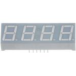 CC56-12SURKWA Kingbright 4 Digit 7-Segment LED Display, CC Red 72 mcd RH DP 14.2mm