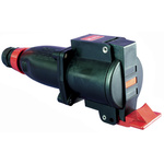 Emerson Network Power, PRE IP66 Red Cable Mount 3P+N+E Industrial Power Socket, Rated At 16.0A, 380-415Vac 50/60Hz