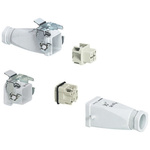 0531 Panel Feed Through Set, Female to Male, 4 Way, 10.0A, 400.0 V