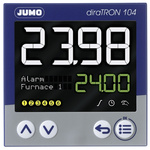 Jumo diraTRON DIN Rail PID Temperature Controller, 96 x 96mm 3 Input, 3 Output Relay, 20 → 30 V ac/dc Supply