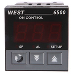 West Instruments N6500 PID Temperature Controller, 48 x 48 (1/16 DIN)mm, 1 Output Relay, 100 → 240 V ac Supply