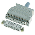 Harting D-sub Thermoplastic Right Angle D-sub Connector Backshell, 9 Way, Strain Relief