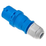 Bals IP44 Blue Cable Mount 2P+E Industrial Power Plug, Rated At 16.0A, 230.0 V