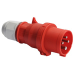Bals IP44 Red Cable Mount 3P+E Industrial Power Plug, Rated At 16.0A, 415.0 V