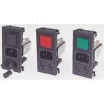 Bulgin,10A,250 V ac Male Snap-In IEC Filter BZV03/A0620/05