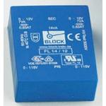 8V ac 2 Output Through Hole PCB Transformer, 14VA