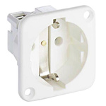 ABL Sursum White 1 Gang Plug Socket, 2 Poles, 16A, Type F - German Schuko
