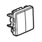 10 A Surface Mount Button Light Switch, 2 Way, 2 Gang, 250 V ac IP55, Plexo