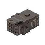 HARTING Han 1A Heavy Duty Power Connector Insert, 12 contacts, 6.5A, Female