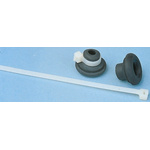 SES Sterling Cable Tie Black Polychloroprene Cable Clamp, 12mm Max. Bundle