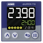 Jumo diraTRON DIN Rail PID Temperature Controller, 48 x 48mm 3 Input, 3 Output Relay, 20 → 30 V ac/dc Supply