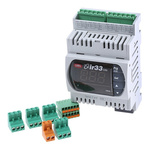 Carel DN33 On/Off Temperature Controller, 110 x 70mm, NTC, PT100, PTC Input, 24 V ac, 30 V dc Supply