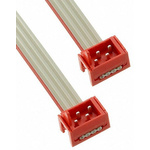 TE Connectivity Micro-Match Ribbon Cable Assembly, Micro-Match MOW Plug to Micro-Match MOW Plug, 75.5mm