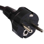 Phihong 1.8m Power Cable, C13, IEC to CEE 7/7, Schuko, 6 A, 250 V