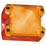 Pfannenberg PY X-S-05 Amber Xenon Beacon, 24 V dc, Flashing, Panel Mount