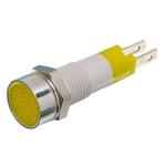 Signal Construct Yellow Indicator, Tab Termination, 12 → 14 V, 8mm Mounting Hole Size