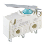 SPDT Lever Microswitch, 6 A @ 250 V ac