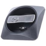 Euro-Locks a Lowe & Fletcher group Company Chrome Plated Metal, Plastic Black Lock, Flush Face, 87mm
