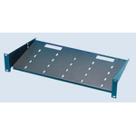 APW Black Cantilever Shelf 2U, 400mm x 441mm