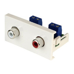 CIE Double Gang 2 Way Female RCA Faceplate