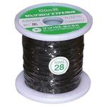 Sunhayato Black, 0.08 mm² Hook Up Wire JUNFLON Series , 100m
