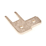 TE Connectivity, FASTON .187 Silver Uninsulated Spade Connector, 4.8 x 0.8mm Tab Size