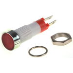Signal Construct Red Indicator, Tab Termination, 24 → 28 V, 8mm Mounting Hole Size