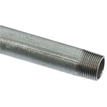 RS PRO Galvanised Threaded Steel & Stainless Steel Pipe, 3.23m Long, 33.4mm Nominal Outer Diameter