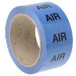 RS PRO Blue PP, Vinyl Pipe Marking Tape, text Air, Dim. W 50mm x L 33m