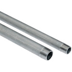 RS PRO Threaded Steel & Stainless Steel Pipe, 2m Long, 16.6mm Nominal Outer Diameter, 3/8 in BSPT Connection