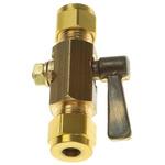 Wade Brass Needle Valve WU3003, 1/4in