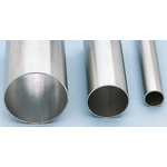 RS PRO 3m Long Unthreaded Stainless Steel Pipe, 1-1/2in Nominal Outer Diameter