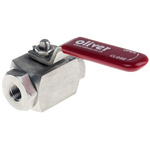 RS PRO Stainless Steel Line Mounting Hydraulic Ball Valve NPT 1/4