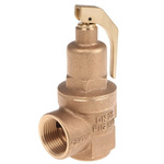 Nabic Valve Safety Products 5bar Pressure Relief Valve With Female BSP 1 in BSP Female Connection and a BSP 1 Exhaust