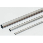 RS PRO 2m Long Unthreaded Stainless Steel Pipe, 12mm Nominal Outer Diameter, 2mm Wall Thickness