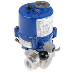 RS PRO Motorised & Actuated Valve Stainless Steel 3 Way 24 V ac/dc, 110 V, 220 V, 3/4in Pipe Size