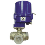 RS PRO Motorised & Actuated Valve Stainless Steel 3 Way 24 V ac/dc, 110 V, 220 V, 1in Pipe Size