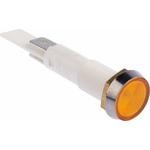 Arcolectric Orange Incandescent Indicator, Tab Termination, 24 V, 10mm Mounting Hole Size