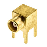 Radiall 50Ω Right Angle Through Hole MCX Connector, jack