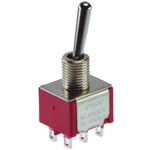 TE Connectivity SPDT Toggle Switch, On-Off-On, Panel Mount