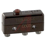 SPDT Pin Plunger Microswitch, 5 A @ 250 V ac