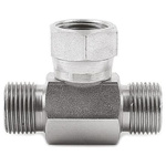 Parker Steel Zinc Plated Hydraulic Elbow Compression Tube Fitting, W15LCF