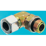 Parker Steel Zinc Plated Hydraulic Elbow Compression Tube Fitting, WEE12LRCF