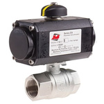 RS PRO Pneumatic 2 port Ball Valve with Pneumatic Actuator - Double Acting, 3 → 10bar Operating Pressure