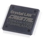 Cirrus Logic CS8900A-CQ3Z, Ethernet Controller, 10Mbps AUI, ISA, 3.3 V, 100-Pin LQFP