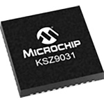 Microchip , 1-Channel Ethernet Transceiver 48-Pin QFN, KSZ9031RNXCC