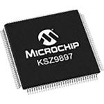 Microchip , 1-Channel Ethernet Transceiver 128-Pin TQFP-EP, KSZ9897RTXI
