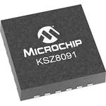 Microchip , 1-Channel Ethernet Transceiver 32-Pin QFN, KSZ8091RNBCA